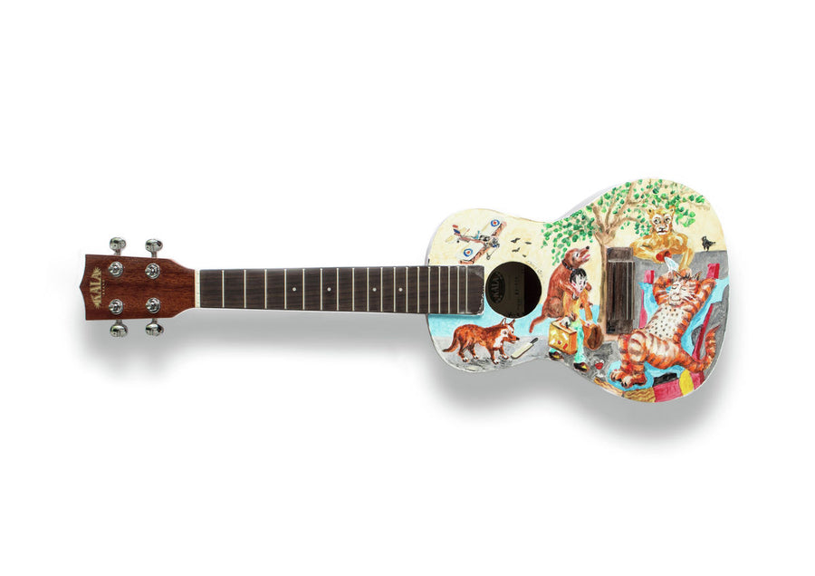 Chris Orr RA - A6 Art on a Ukulele Print