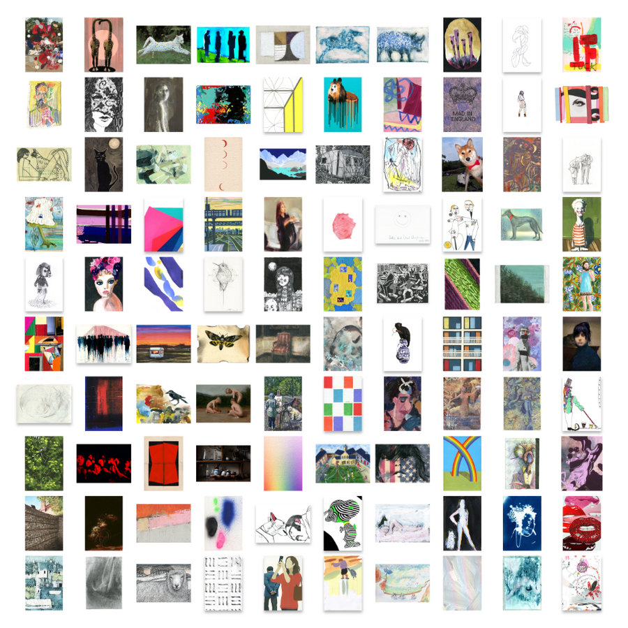 Art on a Postcard 2017 Boxset 100 Postcards