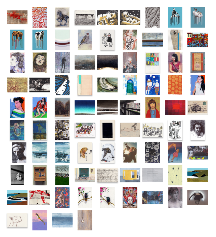 Art on a Postcard 2015 Boxset 85 Postcards