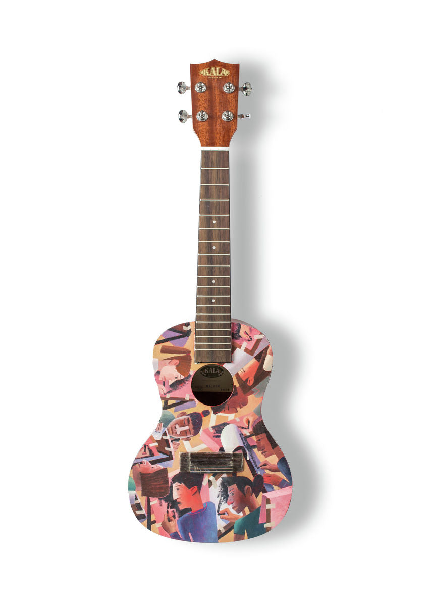 Michael Kirkbride - A6 Art on a Ukulele Print
