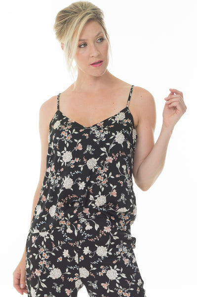 Lisa top - Black floral