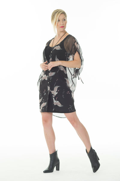 Mariann dress - Black bird