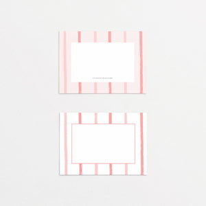 Tiger King Cards & Envelopes - Pink Stripes