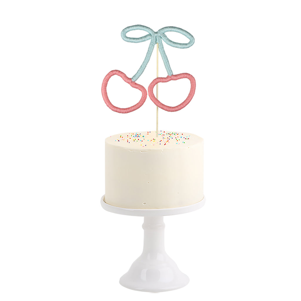 Cotton Cake Topper . Cherry
