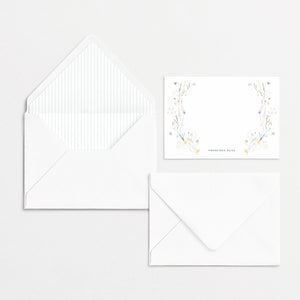 Pressed Flowers Cards & Envelopes Striped Kit