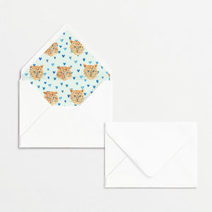 Tiger King Cards & Envelopes - Mint Hearts