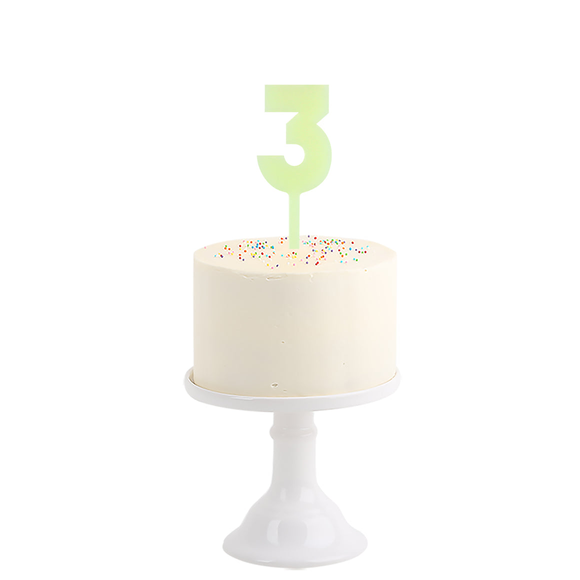 Have a happy birthday this year with this cool cake topper! Place the number in your cake and create a beautiful decoration next to it!