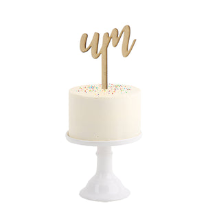 Cake Topper . One in Portuguese
