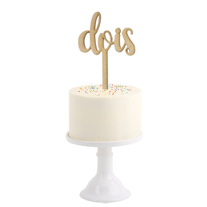 Cake Topper . Two in Portuguese