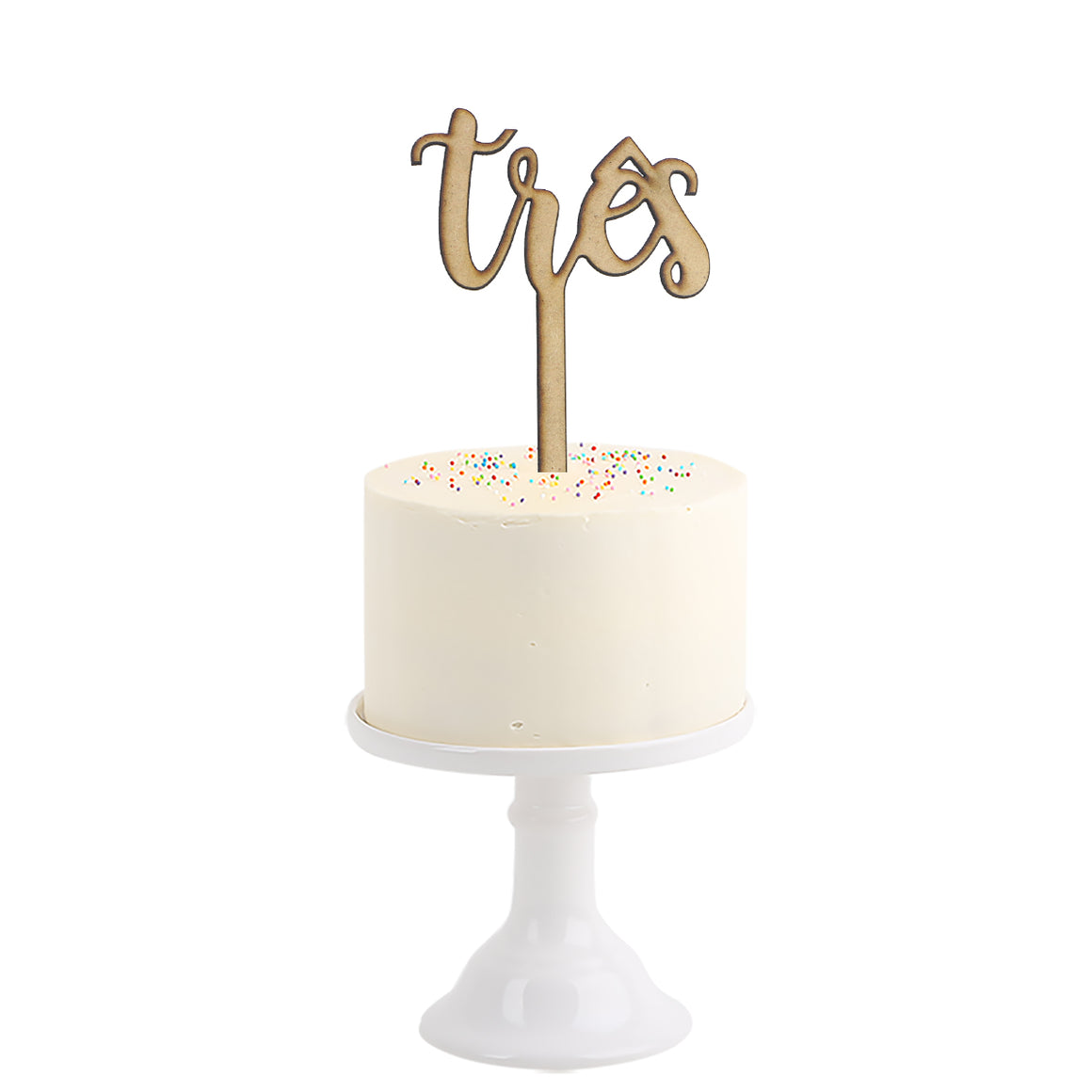 Cake Topper . Three in Portuguese