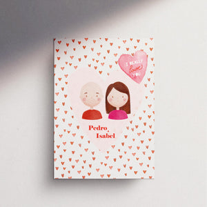 Valentine's Day Customised Card