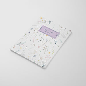 Pressed Flowers Spring Notebook