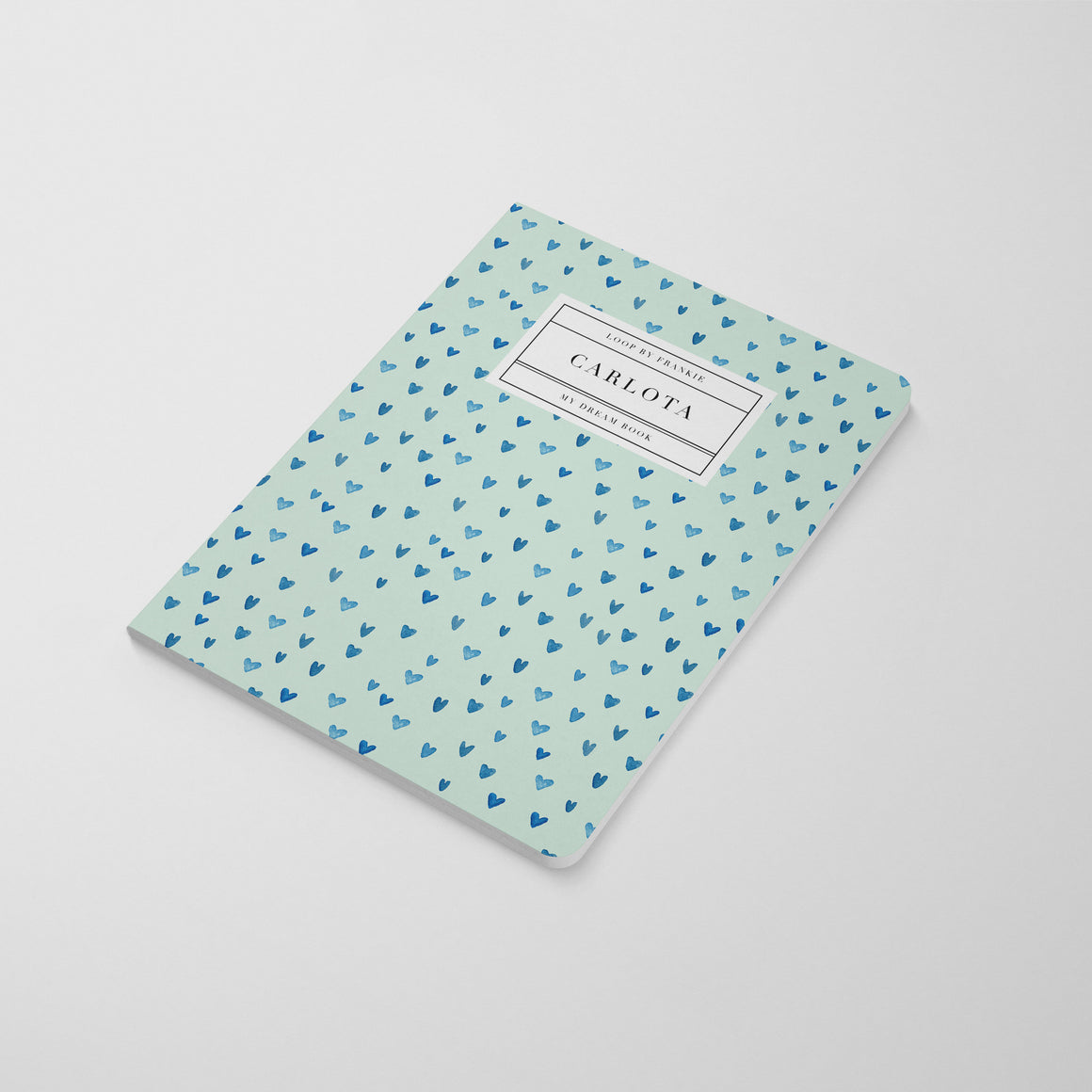 Tiger King Notebook - Mint Hearts