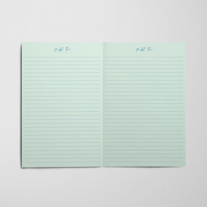 Tiger King Notebook - Mint Stripes