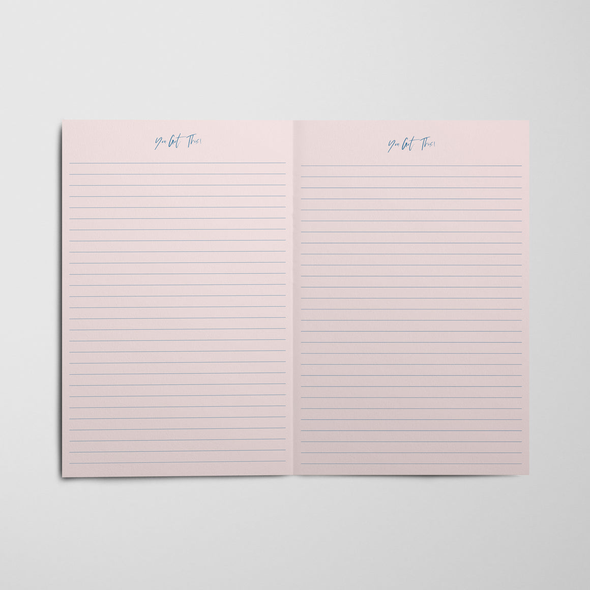Tiger King Notebook - Pink Stripes