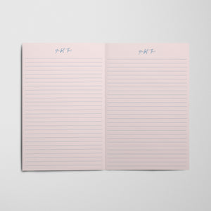 Tiger King Notebook - Pink Hearts Red