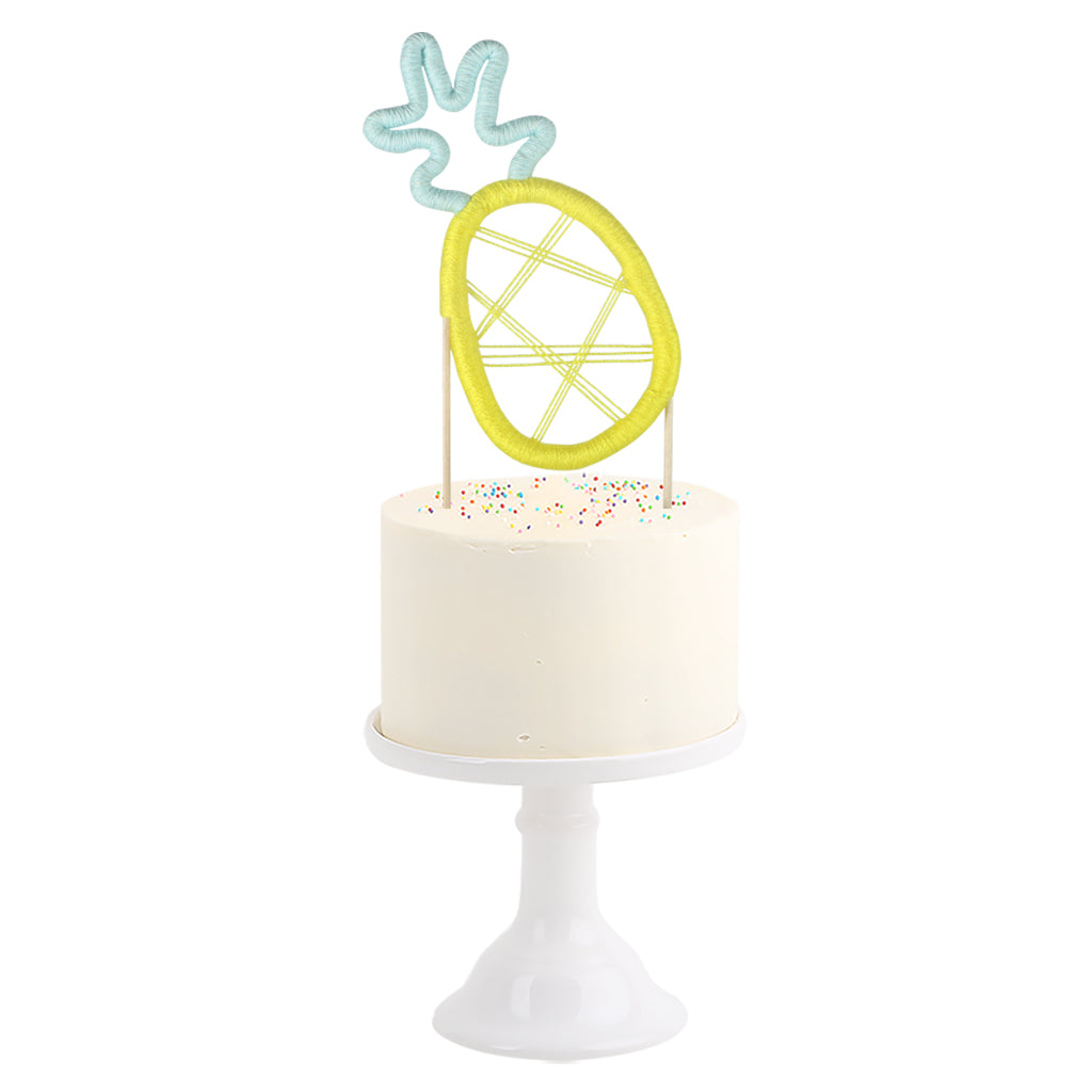 Cotton Cake Topper . Pineapple