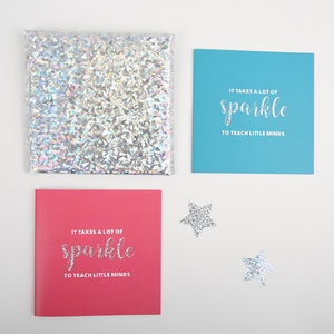 Teacher Thank You Card - Sparkle