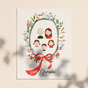 Christmas Family Illustration and Cards