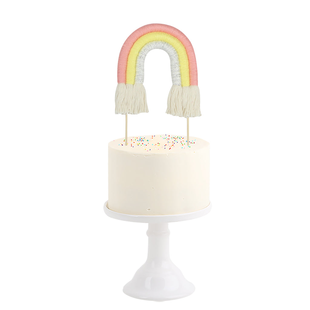 Cotton Cake Topper . Rainbow