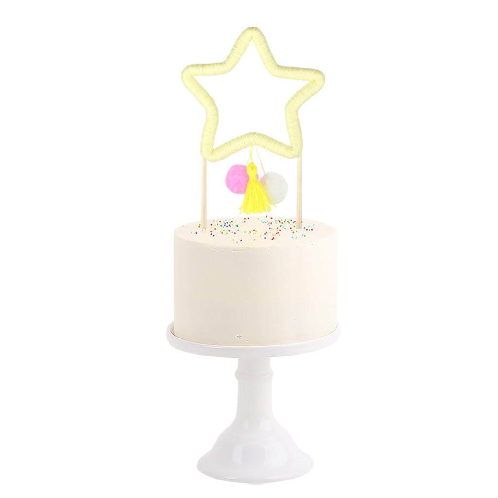 Cotton Cake Topper . Star
