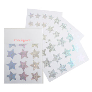 Iridescent Star Stickers