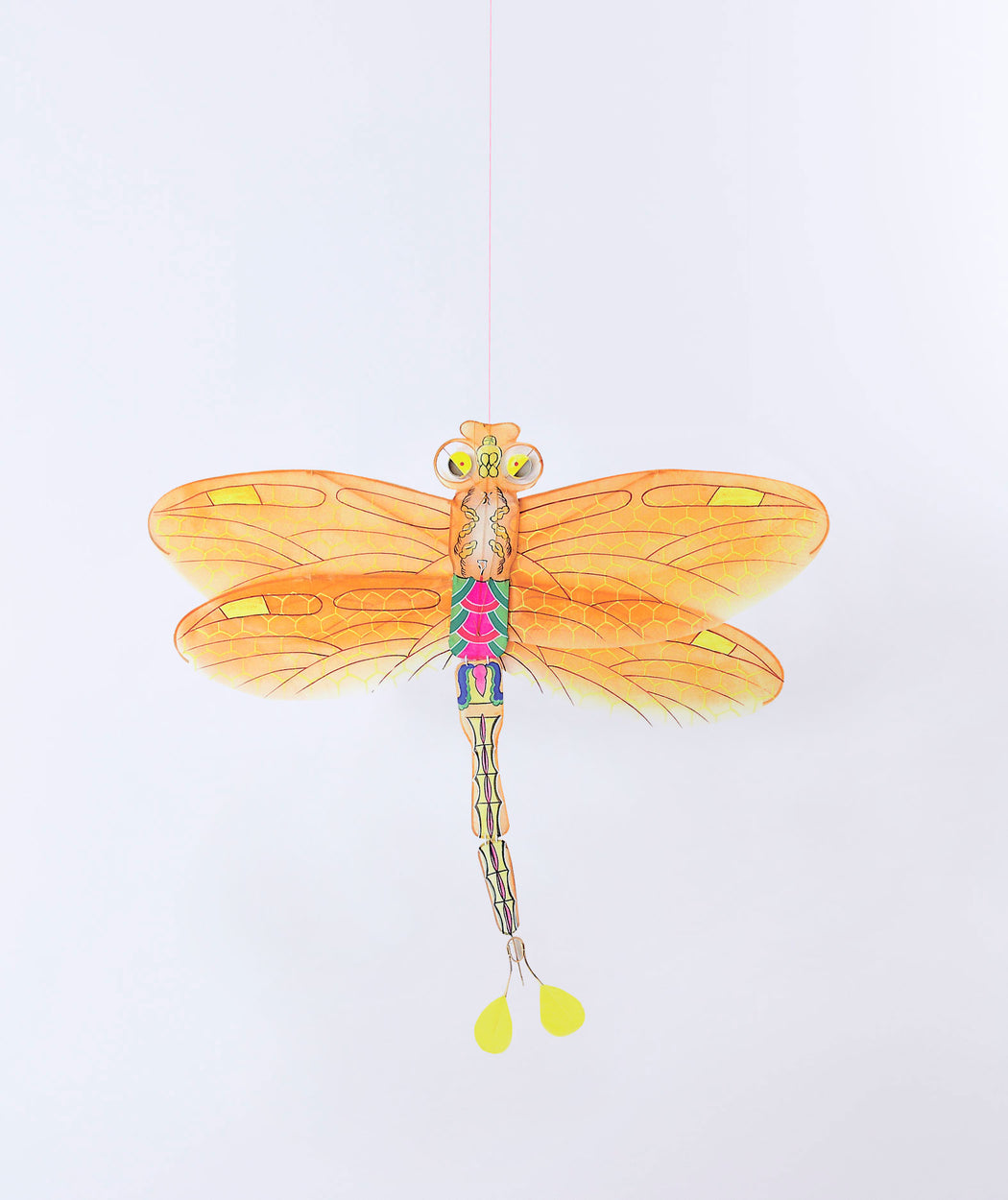 Cerf-volant libellule orange