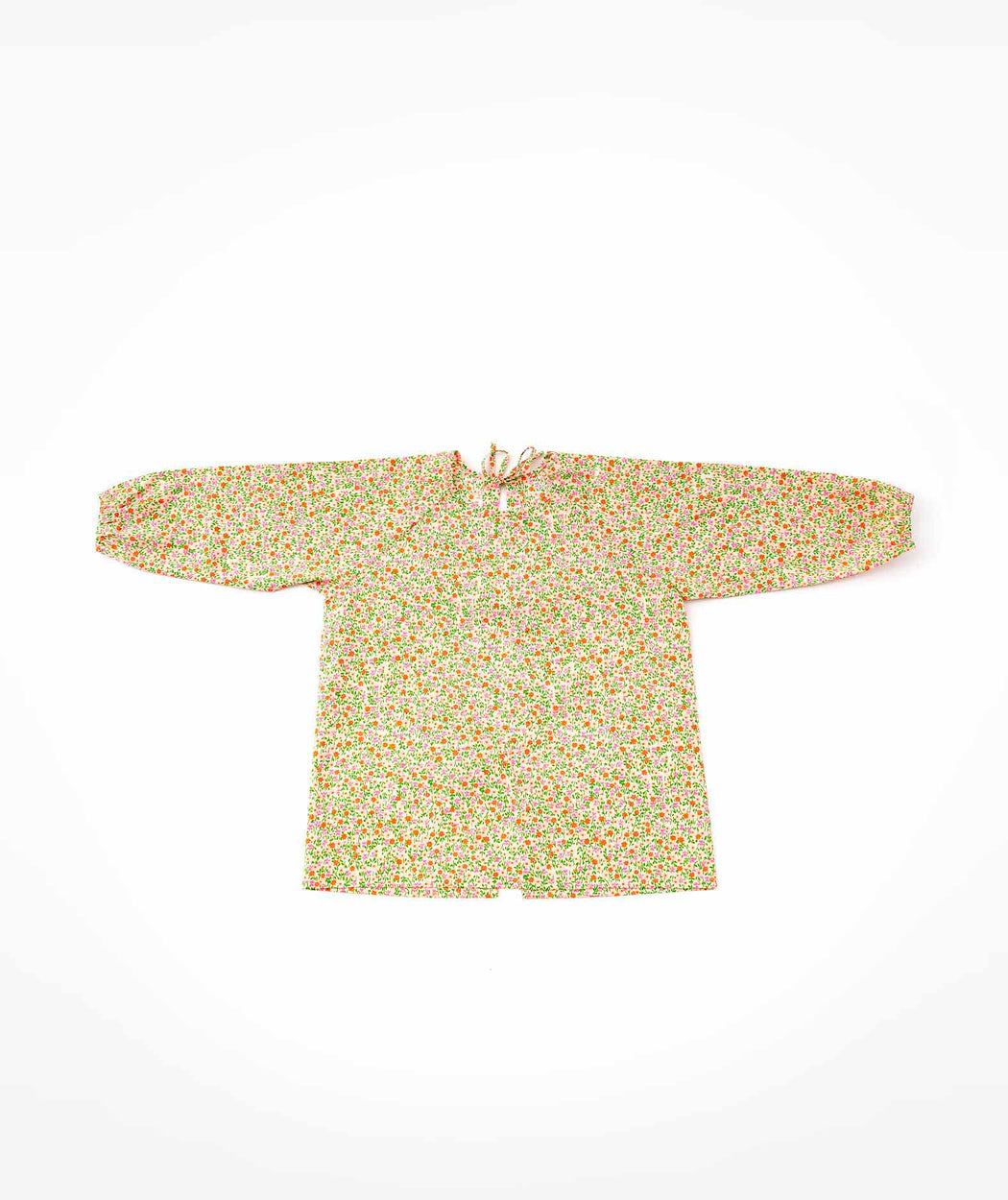 Blouse tablier enfant Flower Power rose Petit Pan
