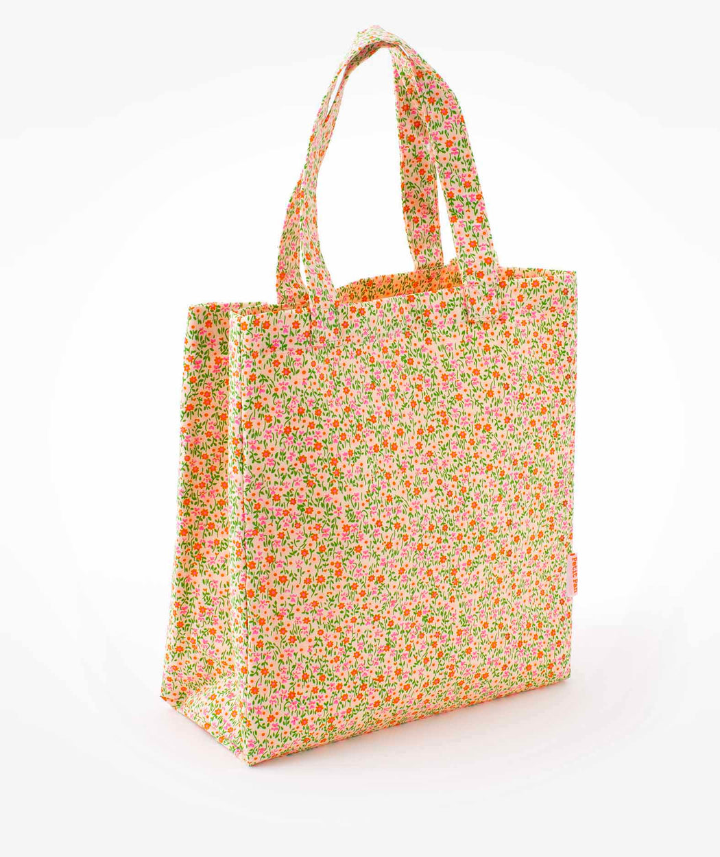 Cabas toile Flower Power rose Petit Pan