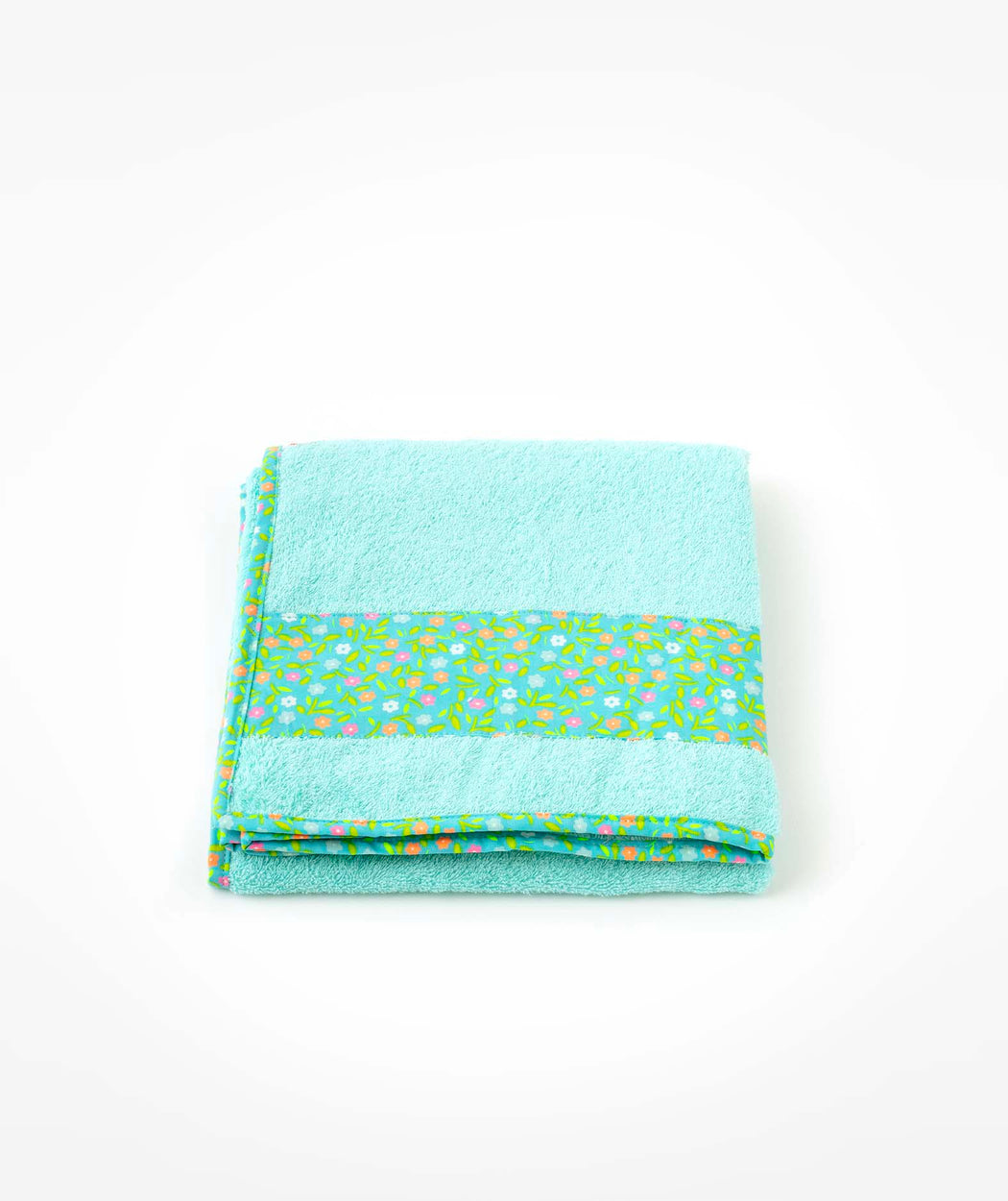 Serviette de bain L Peace and Love azur Petit Pan