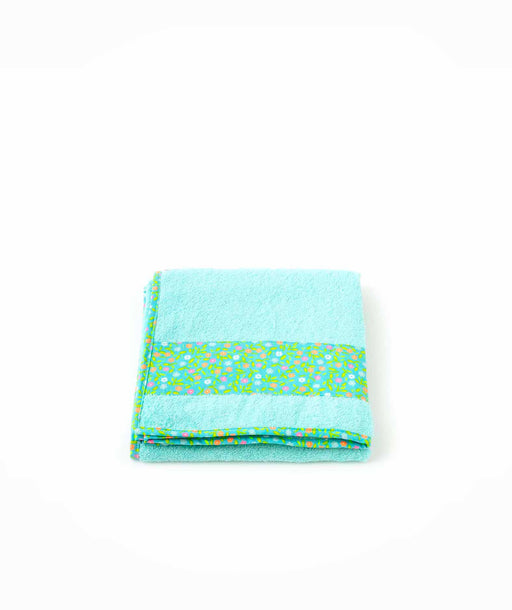 Serviette de bain M Peace and Love azur Petit Pan