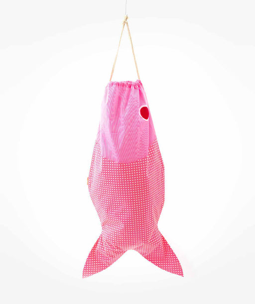 Sac à linge Big Fish Mikko rose Petit Pan