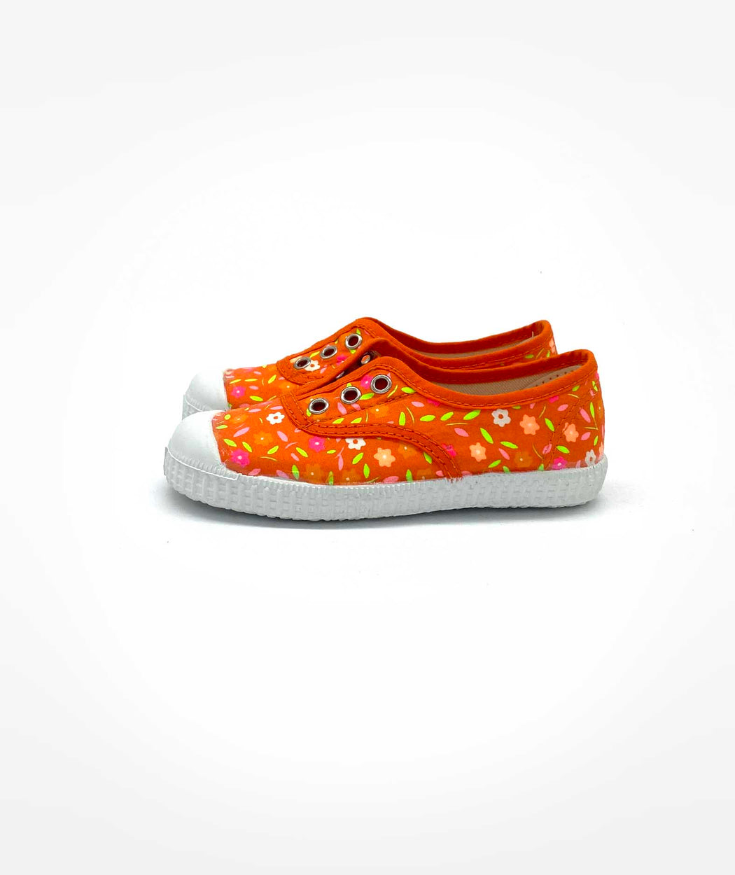 Tennis élastique kids Peace and Love orange Petit Pan