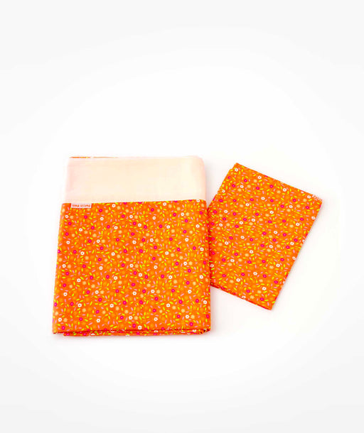 Linge de lit 1 personne Peace and Love orange Petit Pan