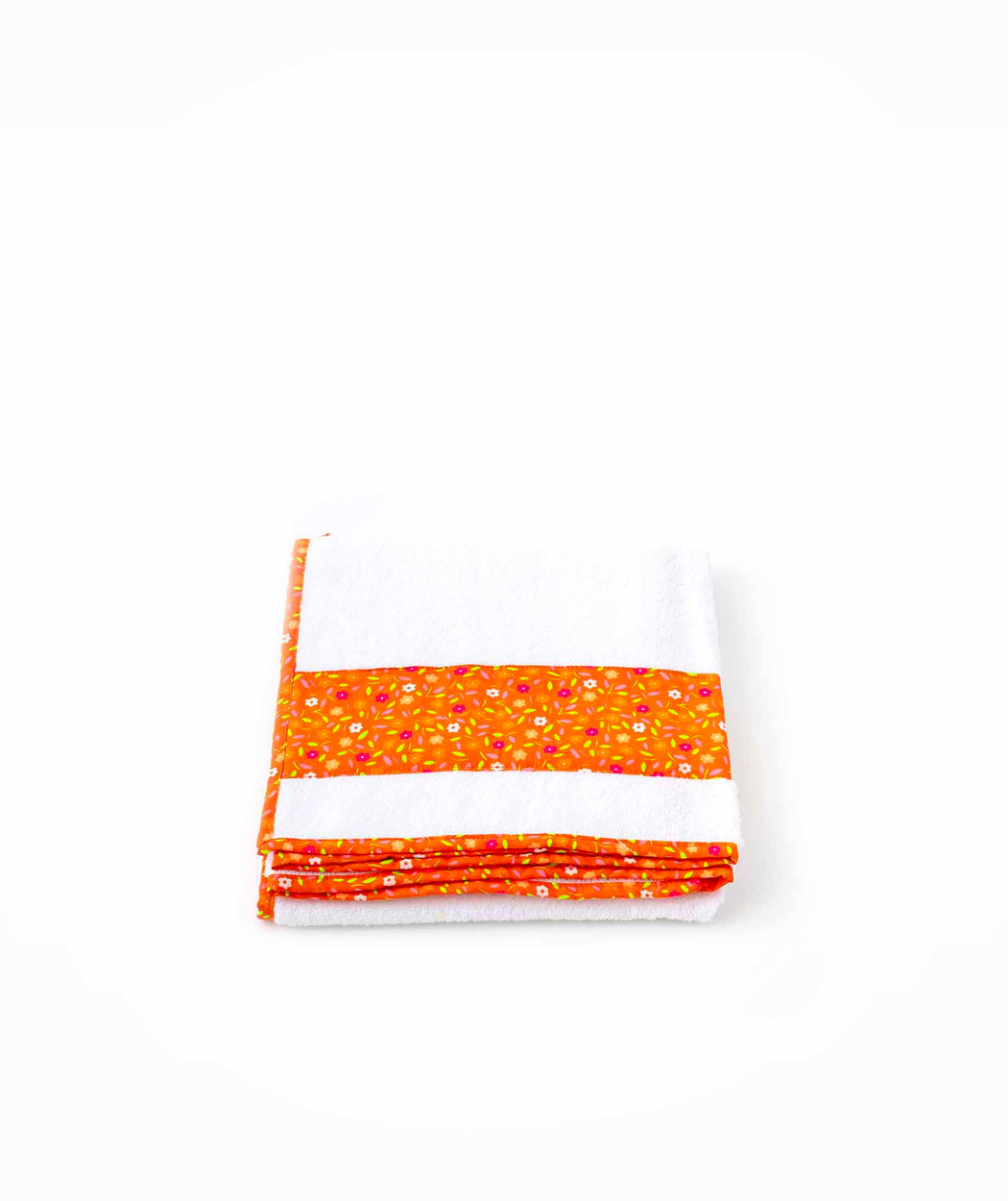 Serviette de bain M Peace and Love orange Petit Pan