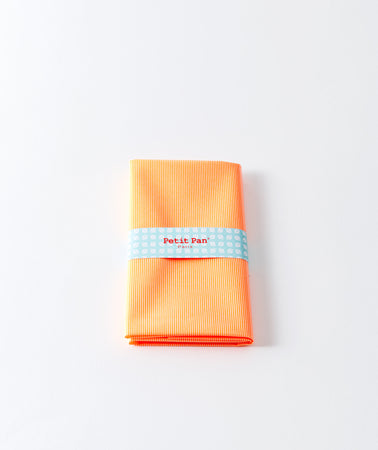 Coupon coton enduit Rigato orange fluo