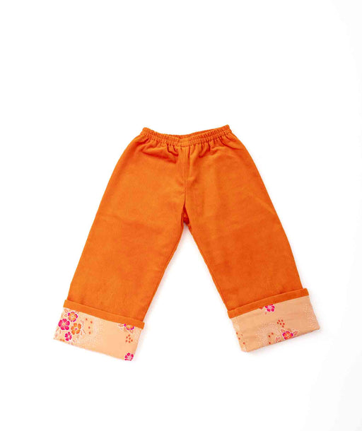 Pantalon enfant Velours orange Folksy Petit Pan