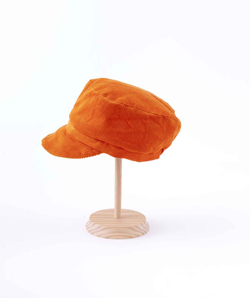 Casquette en Velours orange Folksy Petit Pan