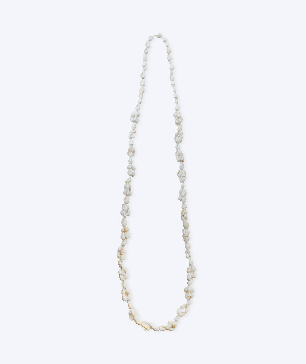 Collier coquillages blancs