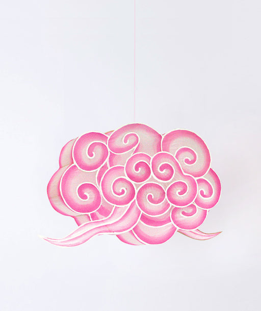Lampion nuage rose L