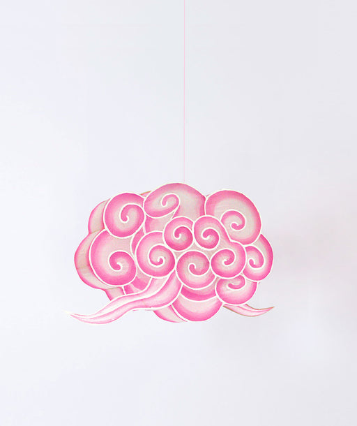 Lampion nuage rose S
