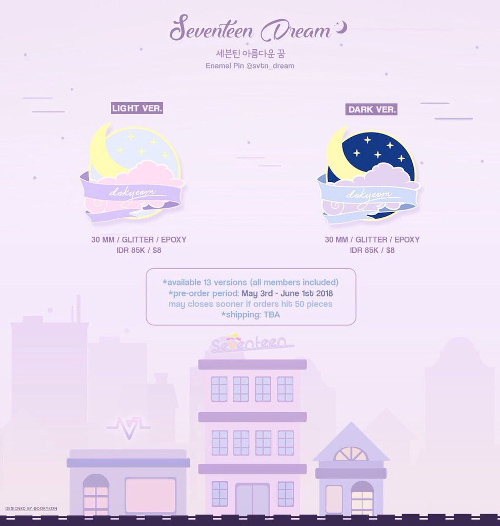 SEVENTEEN DREAM ENAMEL PINS BY SVTN_DREAM