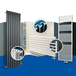 Designer radiators and towel rails
