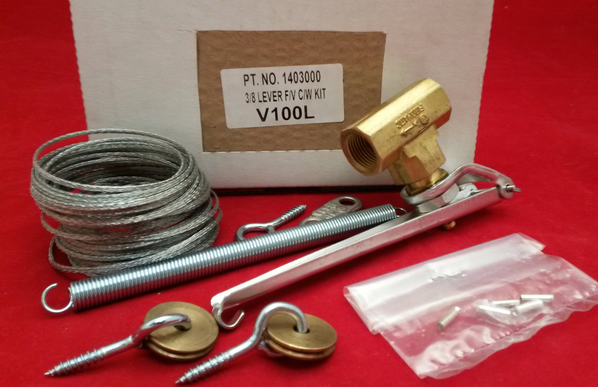 "3/8"" BSP Lever Action Fire Valve Kit c/w Kit V100L"