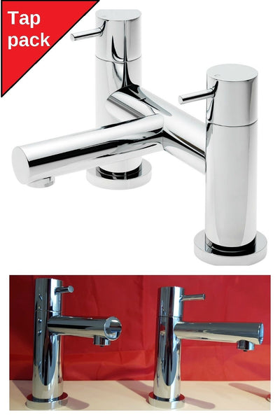 Tre Mercati Contour Lever Head Basin Taps And Bath Shower Mixer Only Pack