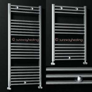 Radiva Straight Heated Towel Rail Bathroom Radiator Chrome