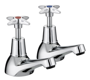 Bristan 5412 Cross Top Basin Taps VAX 1/2 C