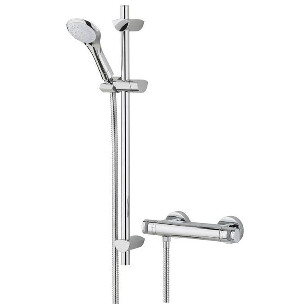 Bristan Artisan Thermostatic Surface Mounted Bar Shower Valve with Adjustable Riser AR2 SHXMTFF C