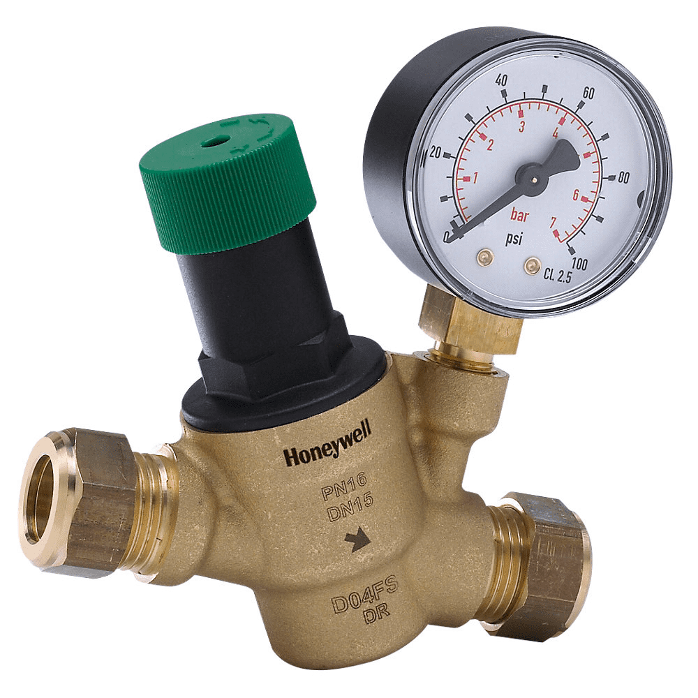Honeywell D04FM-1/2ZGC Compact Adjustable Pressure Reducing Valve - D04FM-1/2ZGC