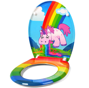 Unicorn themed toilet seat